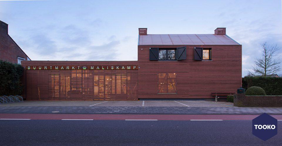 De Twee Snoeken architectuur - Buurtmarkt Maliskamp