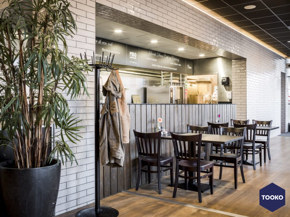 Wildenberg interieurarchitectuur - First Class MBO leerrestaurant in Amersfoort