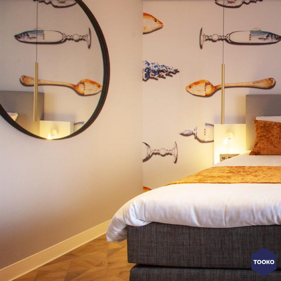 Rodermond Interieurarchitect - 't Voorhuys hotelkamer donkerblauw