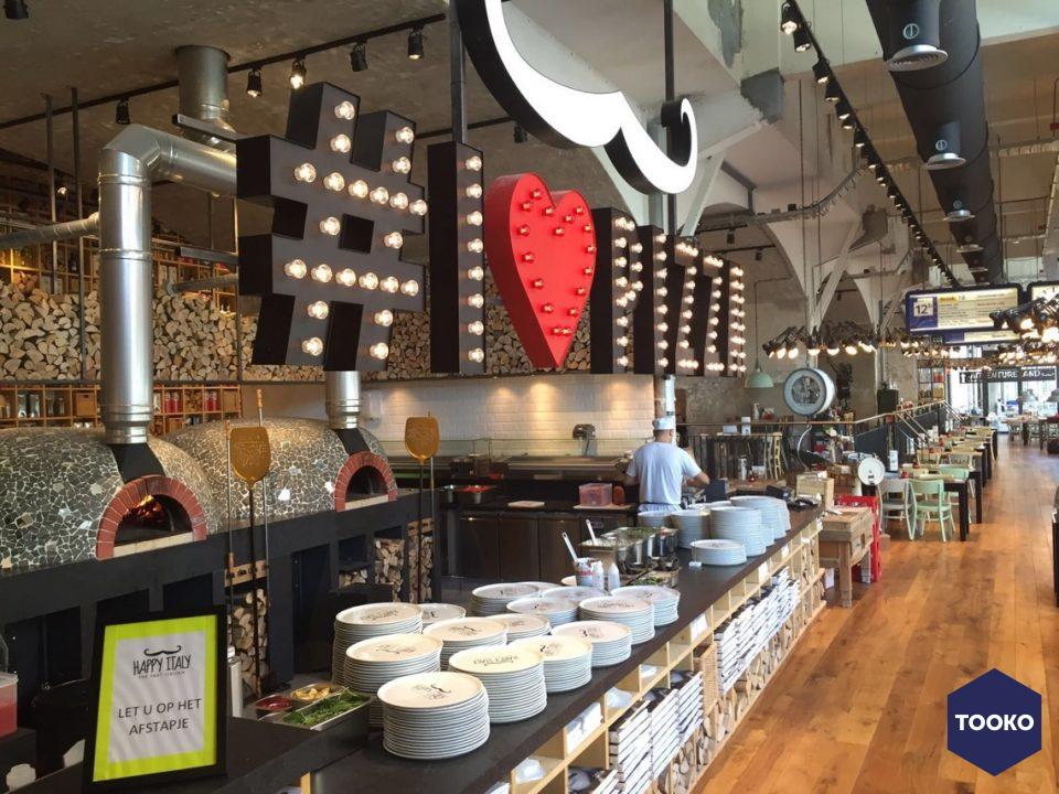 Metos professionele keukens en spoelkeukens - Project Happy Italy Rotterdam