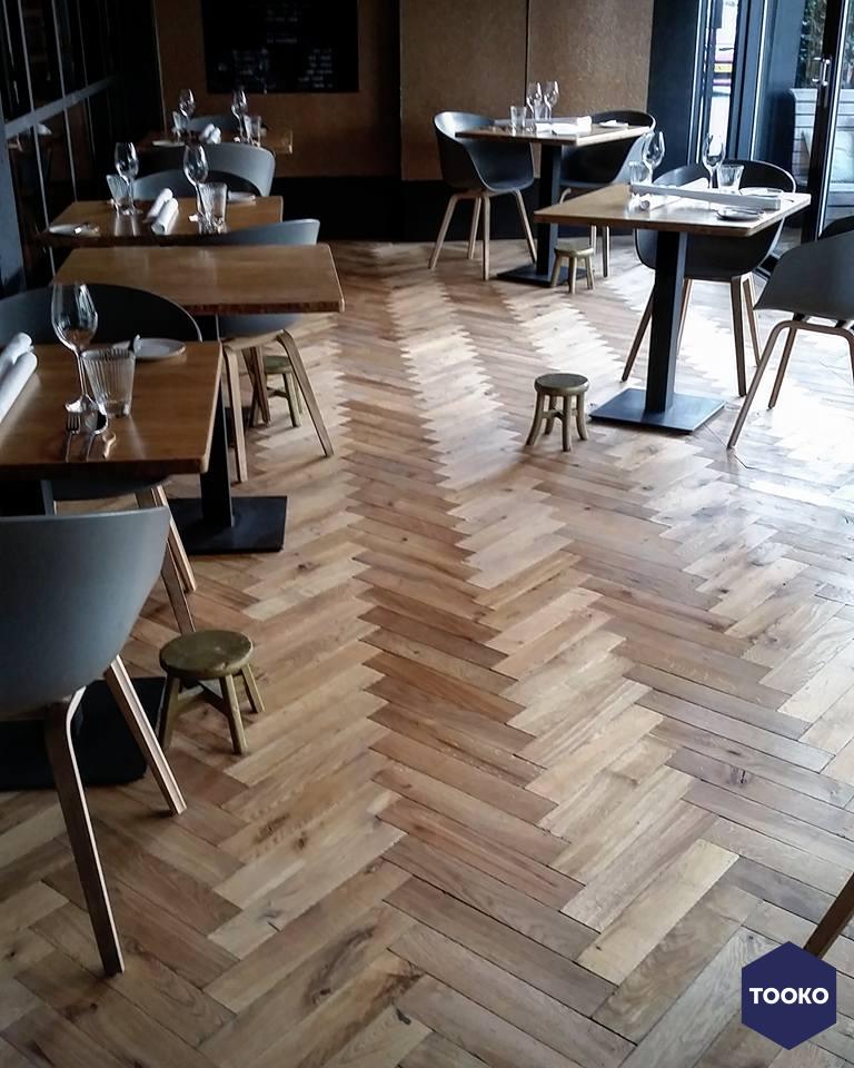De Oude Plank - Houten vloer restaurant Zarzo Eindhoven