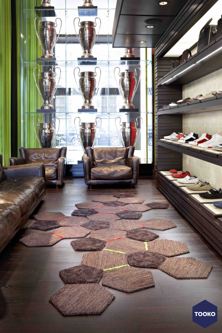 CS rugs - Bikkembergs Flagship Store Milaan